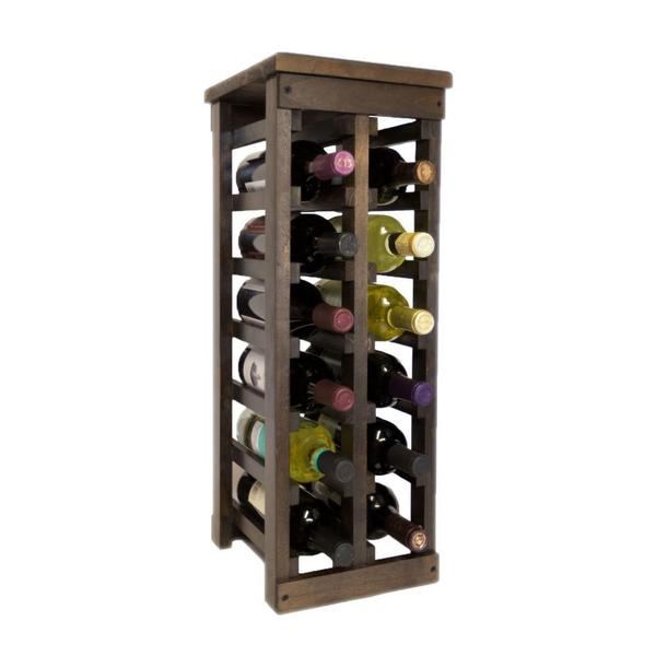El Mar Furnishings 12 Bottle Classic Wood Wine Rack Free