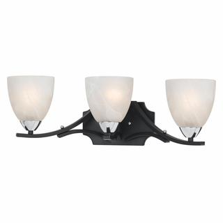 Lumenno Transitional 3-light Black with Chrome Accents Vanity-light
