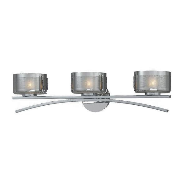 Lumenno Bodorlo Collection 3-light Chrome Vanity-light