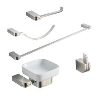 Fresca Solido 5-piece Brushed Nickel Bathroom Accessory Set