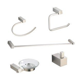Fresca Ottimo 5-piece Brushed Nickel Bathroom Accessory Set