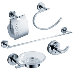 Fresca Alzato 5-piece Chrome Bathroom Accessory Set