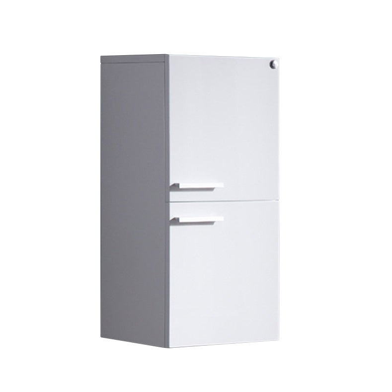 Fresca White Bathroom Linen Side Cabinet with 2 Storage A...
