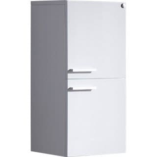 Fresca White Bathroom Linen Side Cabinet with 2 Storage Areas