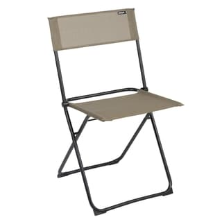 Lafuma Anytime Black Frame Folding Chairs (Set of 2)