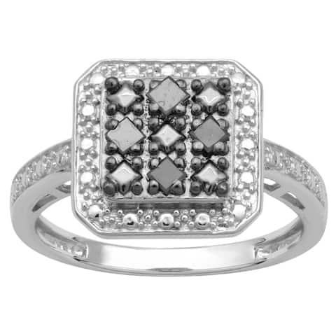 Divina Sterling Silver 1/6ct TDW Diamond Fashion Ring