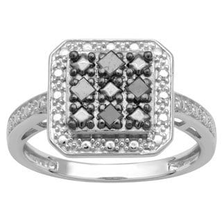 Divina Sterling Silver 1/6ct TDW Diamond Fashion Ring