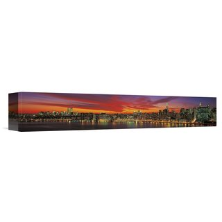 Global Gallery Richard Berenholtz 'Sunset over New York' Stretched Canvas Artwork