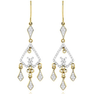 Luxurman 14k Gold 3/4ct TDW Diamond Chandelier Earrings (H-I, SI1-SI2)