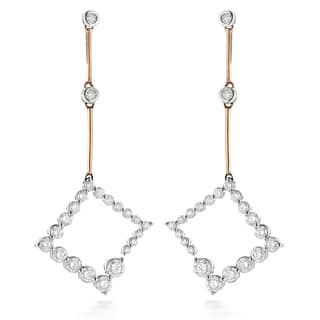 Luxurman 14k White Gold or Two-tone Gold 1ct. TDW Diamond Journey Earrings|https://ak1.ostkcdn.com/images/products/9995390/P17144827.jpg?impolicy=medium