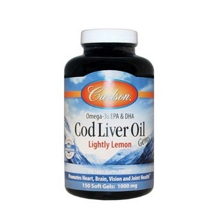 Carlson Cod Liver Oil Gems Lightly Lemon (150 SoftGels)