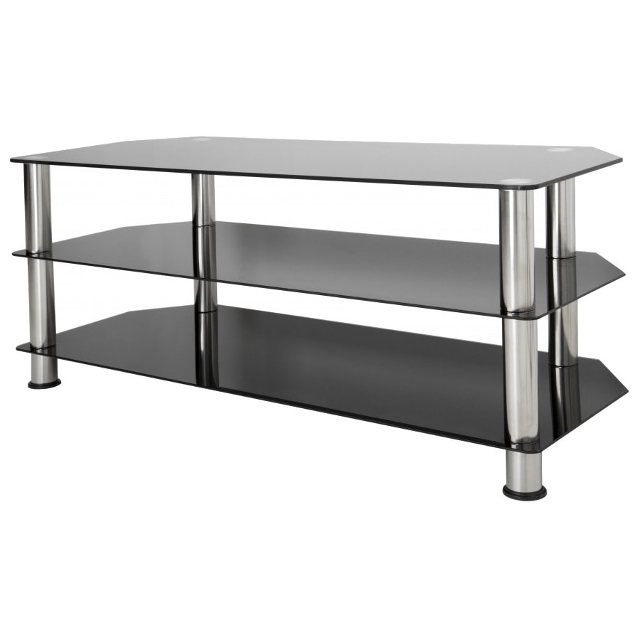 Avf Vector Glass TV Stand With Chrome (Grey) Legs