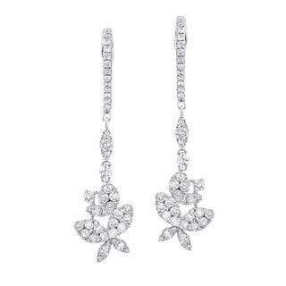 The Luxurman 14k White Gold 1 4/5ct TDW Butterfly Diamond Drop Earrings|https://ak1.ostkcdn.com/images/products/9995430/P17144883.jpg?impolicy=medium