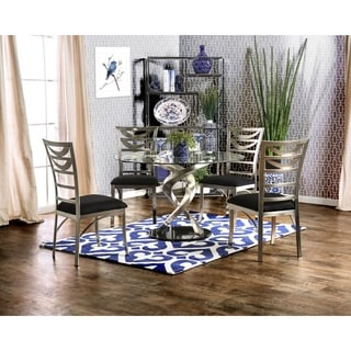 Furniture Of America Sculpture I Contemporary 5 Piece Round Dining Set
