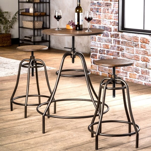 Pub Style Dining Room Set: Shop Furniture Of America Gorgia 3-Piece Industrial Bar