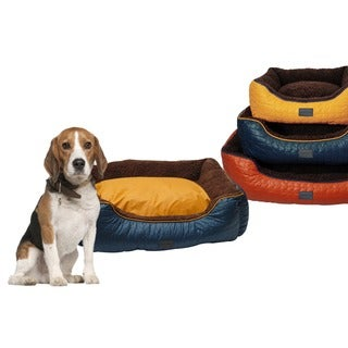 drowzzzy Chevron Quilted water repellent Reversible Bolster Pet Bed