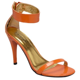 Dusaka Women's '228' Patent Leather Strappy Heels