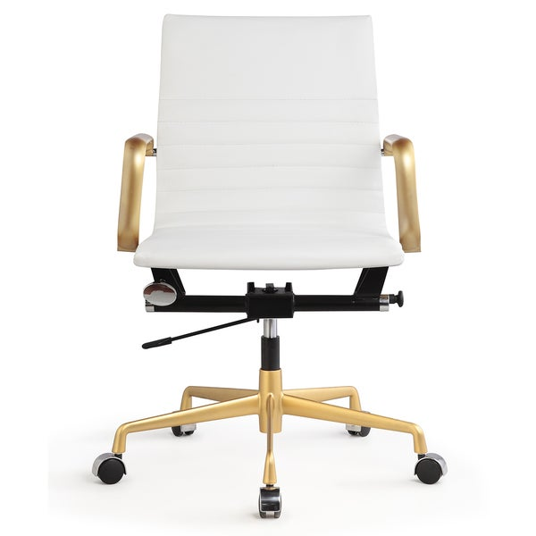office chair picture. dix office chair in gold and white leatherette free shipping today overstockcom 17145109 picture