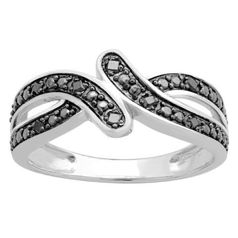 Divina Sterling Silver 1/10ct TDW Diamond Fashion Ring