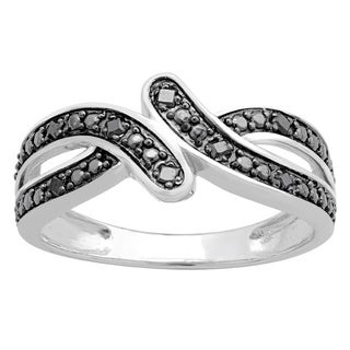 Divina Sterling Silver 1/10ct TDW Diamond Fashion Ring