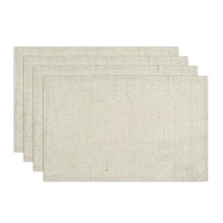 Burlap Ivory Placemats (Set of 4)