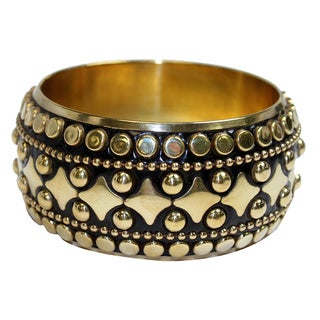 Studded Resin and Brass Bangle (India)