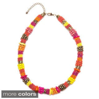 Masai Inspired Colorful Beaded Necklace (India)