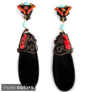 Resin Teardrop Earrings (India)