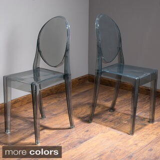 Olympic Transparent PC Side Chair (Set of 2) by Christopher Knight Home