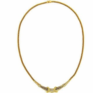Kabella 18k Yellow Gold 3/4ct. TDW Diamond Vintage Necklace (G-H, SI1-SI2)