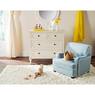 Safavieh Kids Moppett Blue and White Childrens Club Chair