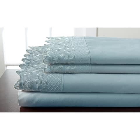Hotel Lace Microfiber Bed Sheet Set