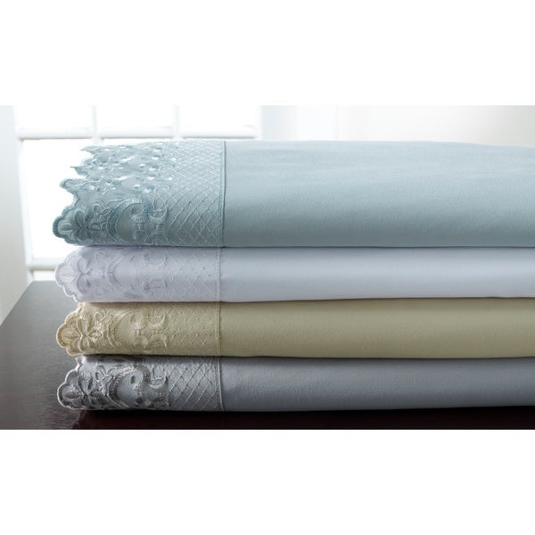 Hotel Lace Microfiber Sheet Set