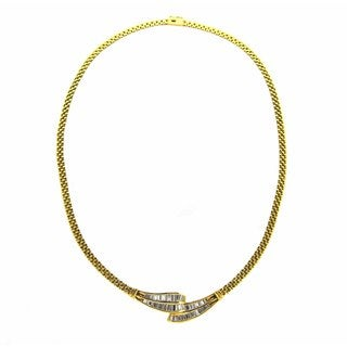 Kabella 18k Yellow Gold 2 3/8ct TDW Diamond Neckalce (G-H, SI1-SI2)