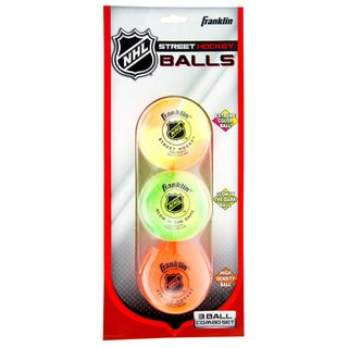 Franklin Sports NHL Street Hockey Ball Combo 3-Pack