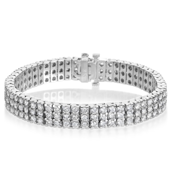 Women/'s 14K White Gold Finish 5ct Oval Cut Diamond Tennis Bracelet 7.25 Inches