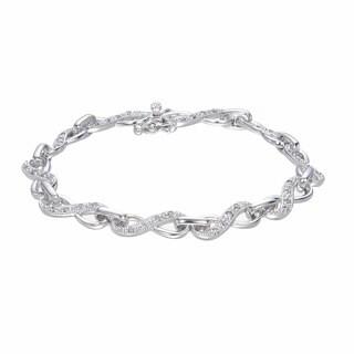 Sterling Silver 1/2ct TDW Diamond Infinity Bracelet (J-K, I2-I3)
