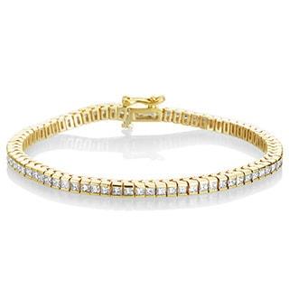 SummerRose 18k Yellow Gold 4 1/2ct TDW Diamond Link Bracelet (G-H, VS1-VS2)
