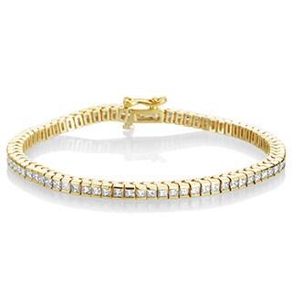 SummerRose 18k Yellow Gold 4 1/2ct TDW Diamond Tennis Bracelet