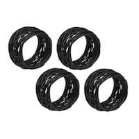 Black Birdnest Napkin Ring (Set of 4)