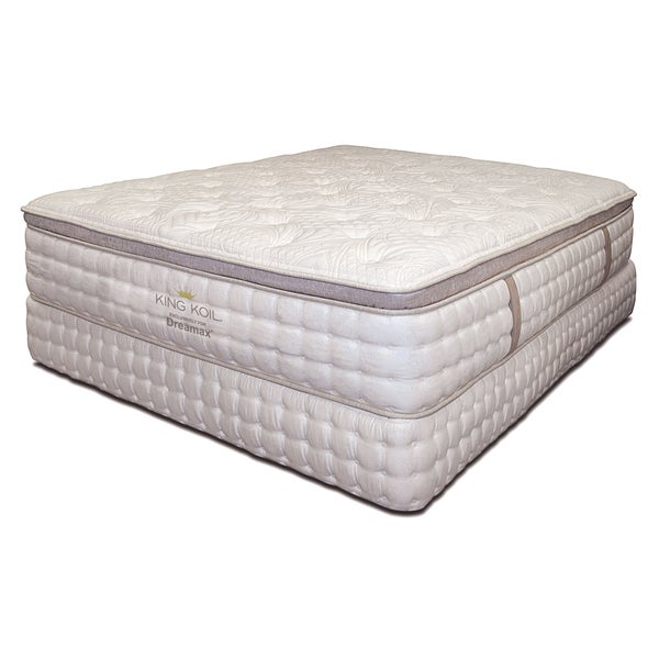Furniture of america king coil 15 inch king size euro top for American home furniture and mattress