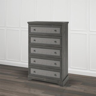 Thumbnail 1, Avenue Greene Fairfield 5-drawer Dresser with Fabric Inserts.