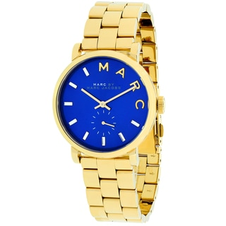 Marc Jacobs Women's MBM3343 Baker Round Goldtone Bracelet Watch