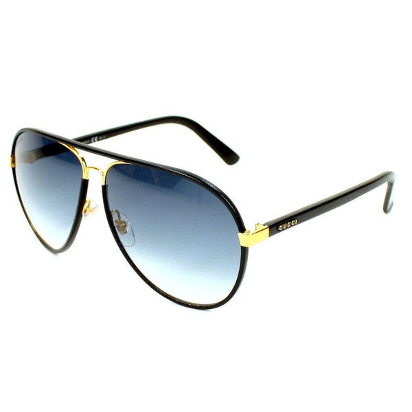 06ead9bb3ccc0 Shop Gucci Men s GG 2887 S Metal Aviator Sunglasses - Black - Free ...