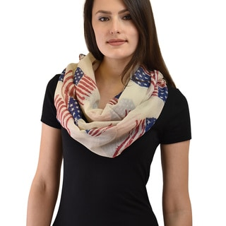 Le Nom Women's American Flag Infinity Scarf