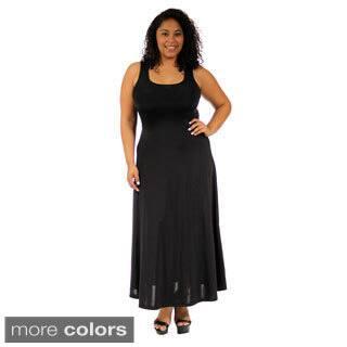 24/7 Comfort Apparel Women's Plus-size Scoop-Neck Tank Maxi Dress (Option: 1x)|https://ak1.ostkcdn.com/images/products/9997475/P17147111.jpg?impolicy=medium