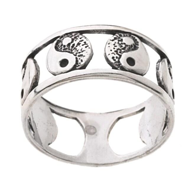 Carolina Glamour Collection Sterling Silver Yin Yang Ring