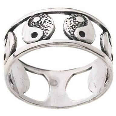 Sterling Silver Yin Yang Ring