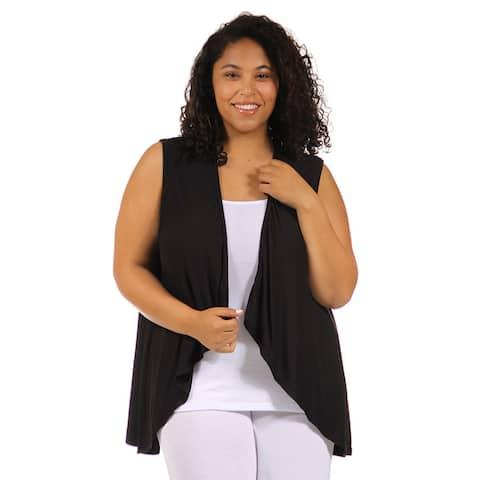 24/7 Comfort Apparel Women's Plus Size Sleeveless Shrug
