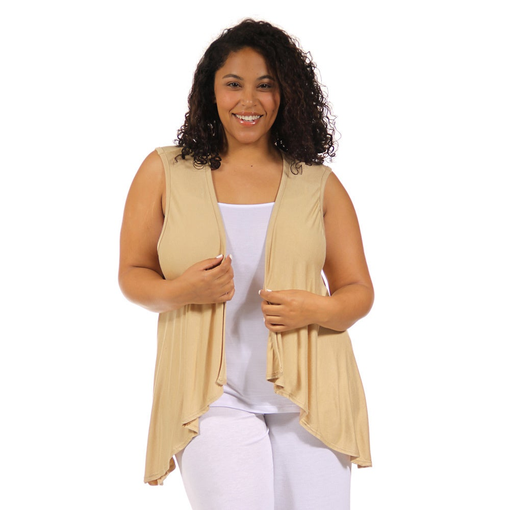24/7 Comfort Apparel Women's Plus Size Sleeveless Shrug (...